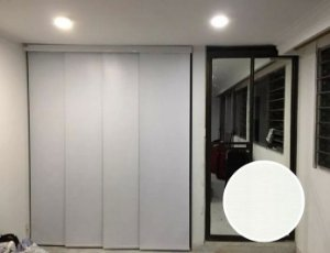 Cortina Painel Blackout cor Branco Texturizado