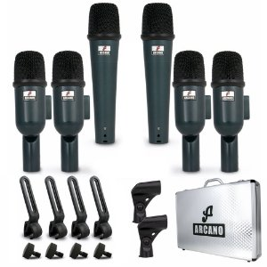 Kit de microfones dinâmicos para bateria Arcano AM-BTWIN7 s/ mic bumbo