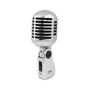 Microfone dinâmico vintage Arcano VT-355 retro c/ maleta
