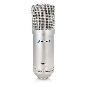 Microfone condensador XLR Arcano AM-01 c/ imperfeições