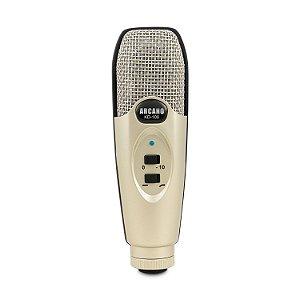 Microfone condensador Arcano KD-100 c/ maleta