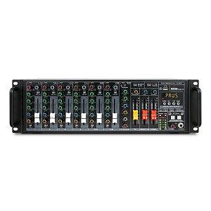 Mesa de som amplificada 10 canais Arcano PRAK-10 USB 500w