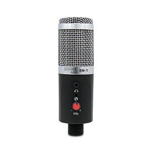 Microfone condensador BM800 AUDIO BM-1 s/ LED frontal