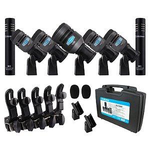 Kit de 7 microfones para bateria Alctron T8700II