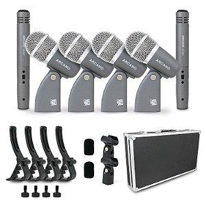 Kit de 6 microfones para bateria padrão Arcano c/ imperfeições