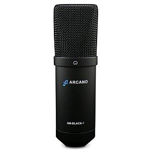 Microfone condensador USB com fio Arcano AM-BLACK-1