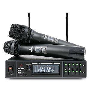 Microfone sem fio duplo UHF Arcano BB-2