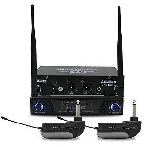 Sistema sem fio duplo General Audio Premium G2 Dual p/ guitarra