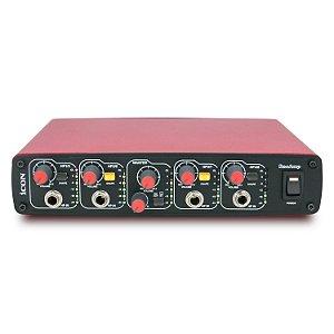 Amplificador de fones iCON ReoAmp (Red) 4 canais 220v