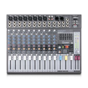 Mesa de som com 12 canais Arcano AMIX-12