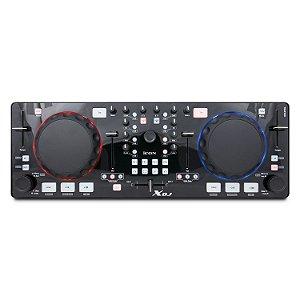Controladora e mixer de áudio iCON XDJ (Black) para DJs USB