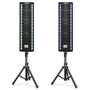 Kit duplo caixas de som ativas Arcano TOWER-GI 640W 6.5pol