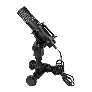 Microfone condensador Alctron S507 mini shotgun estéreo