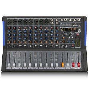 Mesa de som amplificada Arcano PL-12 400w interface USB
