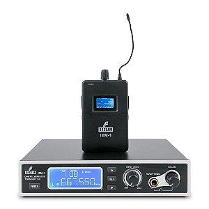 Monitor sem fio de palco Arcano IEM-1 ponto c/ fone de ouvido