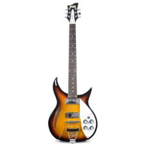 Guitarra semi-acústica DOD Vintage Maker tipo rickenbacker 6 cordas c/ imperfeições