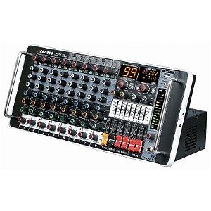 Mesa de som 8 canais padrão rack Arcano Rack-M8