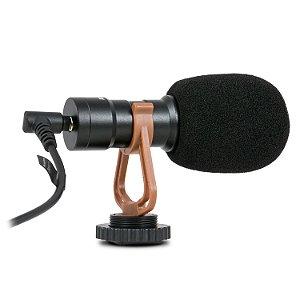 Microfone mini condensador Arcano TRINY p/ câmera smartphone computador