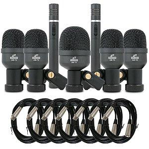 Kit de microfones para bateria Arcano AM-7A + 7 cabos XLR-SXB (balanceados)