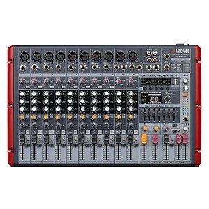 Mesa de som amplificada Arcano GRAN-12 EQ efeitos 1200W RMS