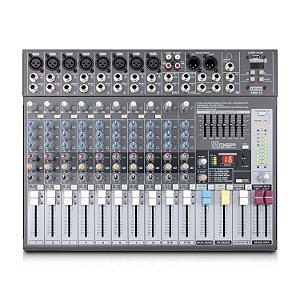 Mesa de som com 12 canais AMIX-12 c/ imperfeições