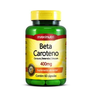 Beta Caroteno 400mg 60 Caps - Maxinutri