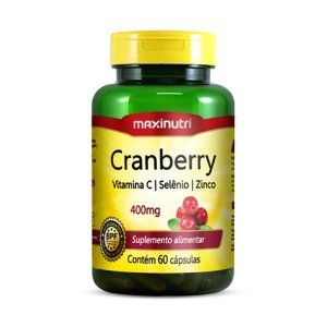 Cranberry + Vitamina C 60caps - Maxinutri