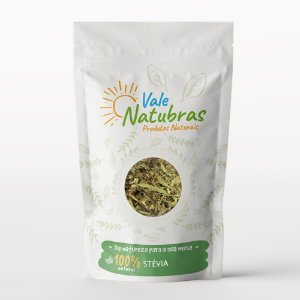 Chá de Stévia - Stevia rebaudiana (Bert.) Hemsl. 30g - Vale Natubras