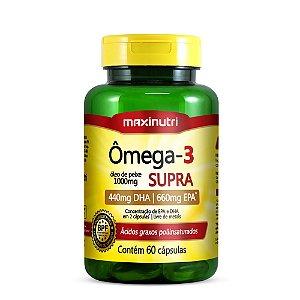 Ômega 3 Supra – Óleo de Peixe 1000 mg 60 Caps - Maxinutri
