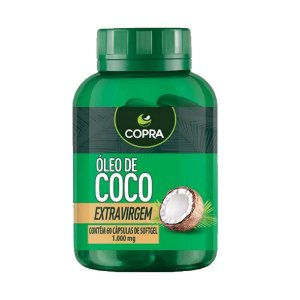 Óleo de Coco Extra Virgem 60 caps - Copra