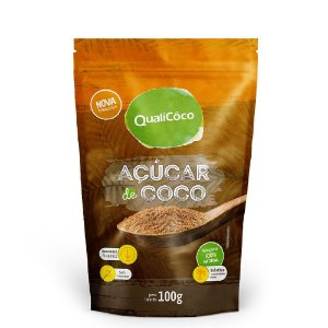 Açúcar de Coco 100g - Qualicoco