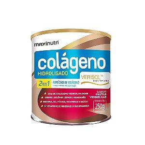 Colágeno Hidrolisado 2 em 1 Frutas Vermelhas Verisol 250g - Maxinutri