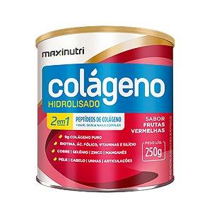 Colágeno Hidrolisado 2 em 1 Frutas Vermelhas 250g - Maxinutri