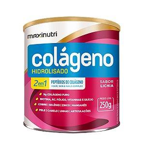 Colágeno Hidrolisado 2em1 Lichia 250g - Maxinutri