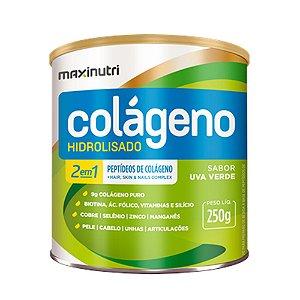 Colágeno Hidrolisado 2em1 Uva Verde 250g - Maxinutri