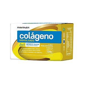 Colágeno Hidrolisado 2em1 Manga c/ Maracujá 30x10g - Maxinutri