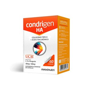 Condrigen H.A (colágeno tipo II / UCII+AC Hialuronico) 60  caps - Maxinutri