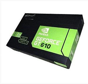 Placa de Video VGA PCI E GF GT610 2GB DDR3 64BIT VGA/DVI/HDMI