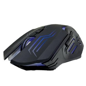 Mouse Gamer Ladon 2400 DPI  Preto Led Azul