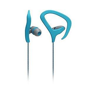 Fone De Ouvido Auricular Fitness Cabo De Nylon Com Microfone Azul Multilaser - PH164
