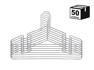 50 Unidades Cabides Luxo Executivo Cava De Aço