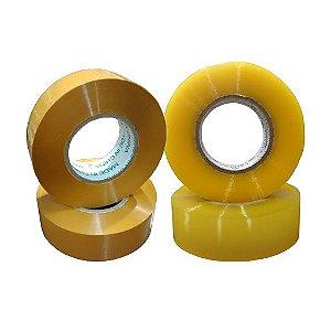 Kit 5 Fitas Amarelas + 5 Fitas Transparentes 500m