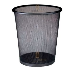 Kit 10 Lixeira Cesto Lixo Redondo Escritório Aço Telado 12 L