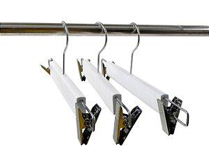Kit 30 Cabide de Madeira Marfim para Saia Alta Resistência