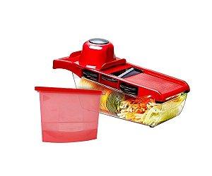 Kit Mandoline Slicer Nicer Cortador + Saco de Alimentos