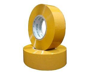 Kit 8 Fita Adesiva Larga Amarela 500m