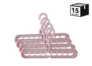 15 Unidades Suporte Organizador Para Cabides Versátil