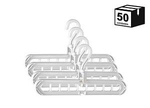 50 Unidades Suporte Organizador Para Cabides Versátil