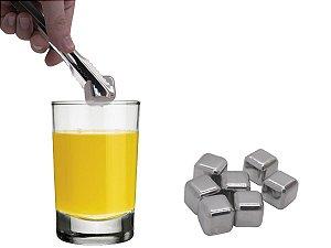 Cubo De Gelo Artificial Em Aço Inox