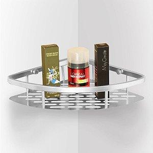 Porta Shampoo E Sabonete De Canto Alumínio Ventosa